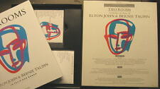 TWO ROOMS CELEBRATING THE SONGS OF ELTON JOHN BERNIE TAUPIN - CD + VHS + BUCH