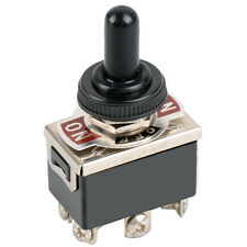 1PCS 6-pin Black DPDT DC Moto Reverse ON/OFF/ON Toggle Switch & Switch Cap M1EG