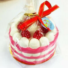 10CM Jumbo Squishy Strawberry Cake Scented Super Toy Charms Straps Pendant Gift