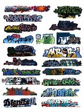 HO SCALE GRAFFITI DECALS 321 COVERED HOPPERS REEFERS  FULL PAGE 21 DECALS
