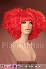 OUTRAGEOUS!! Huge Beehived Costume Wig Vivacious Red