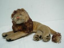 "VINTAGE STEIFF LAYING DOWN LEO THE LION ~ 6.5"" HIGH x 12"" WIDE"