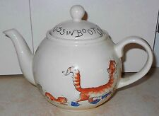 PUSS IN BOOTS ARTHUR WOOD ENGLISH TEAPOT