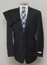 NWT Mens 46L Michael Kors 2 Piece Black 100% Wool Suit