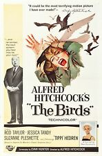 "THE BIRDS 1SH 1 one sheet 27"" X 41"" ORIGINAL 1963 MOVIE POSTER Alfred Hitchcock"