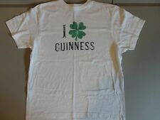White I Love Guinness T Shirt L w/ Lucky Clover Free Shipping US