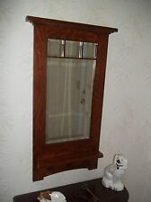 "Arts & Crafts ""Craftsman Style"" Hanging Wall Mirror 1"" Bevel Handcrafted mission"