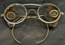 ANTIQUE Vintage AMERICAN OPTICAL Safety Glasses MOTORCYCLE STEAMPUNK Eyeglasses
