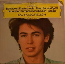 """BEETHOVEN-KLAVIERSONATE - SCHUMANN-SYMPHONISCHE ETÜDEN - POGORELICH 12"""" LP(W125)"""