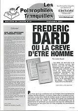 EO BULLETIN N° 10  JULIEN DUPRÉ + FRÉDÉRIC DARD OU LA CRÈVE D'ÊTRE HOMME