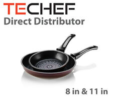 "TeChef-Blooming Flower 8"" and 11"" Frying Pan Set"