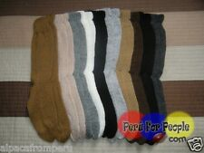 Lot of 10 Pairs - Peruvian Alpaca Socks Standard Natural Colors Snow cod10