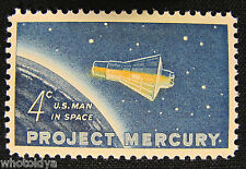 FREE SHIPPING 1962 Project Mercury Postage Stamp 4c US-1193 MINT N/H whotoldya