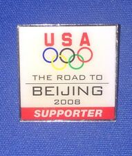 USA ~ Road To BEIJING 2008 Olympic Pin ~ China Supporter
