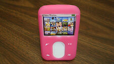 USA Creative Zen Vision M 30GB/60GB HOT PINK Silicone Skin Case Cover w/Stand