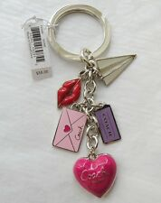 NWT Coach 93094 Love Letter Multi Mix Key Fob Key Chain