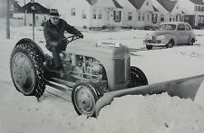 "12 By 18"" Black & White Picture Ford Tractor ""N""  with Snow Plow"