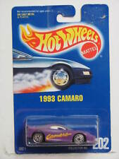 HOT WHEELS 1991 BLUECARD 1993 CAMARO #202  W/ UH  WHEELS