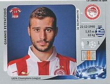 N°132 FETFATZIDIS # GREECE OLYMPIACOS CHAMPIONS LEAGUE 2013 STICKER PANINI
