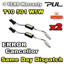 2x 501 T10 W5W WEDGE LED WARNING CANCELLER NO CANBUS OBC ERROR LOAD RESISTORS UK
