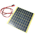 220x200mm 12V 5W Solar Panel Fit Car Battery Trickle Charger Backpack Power EU