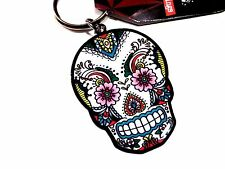 Sunny Buick Sugar Skull Lace Day of the Dead Dios De Los Muertos Keychain ring