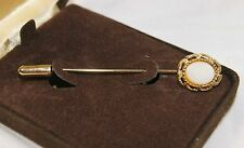 "Vintage EMPRESS Genuine Opal Gold Tone Stick Hat Pin 2 3/4"" L x 1/2"" W"