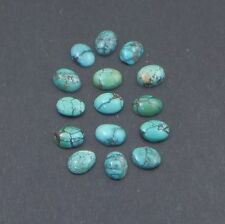 Turquoise Cabochons 6x8mm 15 PCS 14.5 Carats Total
