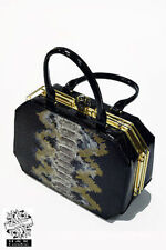 Hearts & Roses London Charismatic Box Goth Emo Punk Rocker Rockabilly Hand Bag