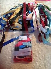 ROLL END BAG of SATIN RIBBON - 15mm wide - mixed colours - 10 lengths x 1mtr