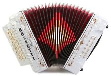 Rossetti 3112 GCF Sol 31 Button Diatonic Accordion - White with Strap and Case