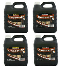 4 x 4 Litre Creosote Wood & Fence Shed Treatment  Dark Brown ( 16 LITRES )
