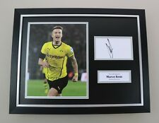 Marco Reus Signed Photo Framed 16x12 Dortmund Autograph Memorabilia Display +COA