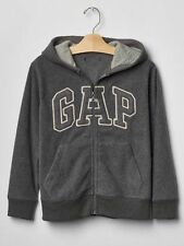 GAP Kids Boys Pro Fleece Arch Logo Zip Dark Gray Hoodie Sweatshirt XS 4 5 NWT$35
