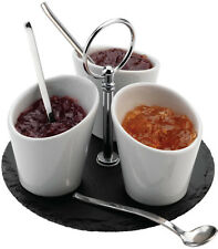Grunwerg Commichef Slate Jam Sauce Serving Set - SLT-JAM