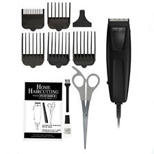 Wahl 10 Pc Quick Hair Cut Trimmer Set Guides Comb Oil Brush Clipper Self Sharpen