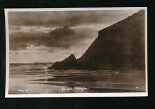 Wales Pembrokeshire Pembs NEWGALE Sunset Used 1948 RP PPC