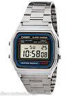 Casio A158W-1 Digital Classic Stainless Steel Watch Alarm Stopwatch NEW