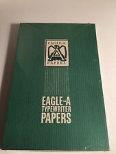 Eagle A box/100 sheetsTypewriter Paper Trojan bond white fx520c heavy weight new