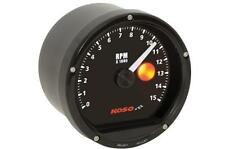 Koso North America Black TNT-01R Tachometer w/Shift Light-Black Face - BA035150