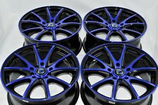 16 blue Wheels Accord Civic Miata Camry Neon PT Cruiser Milan 5x100 5x114.3 Rims