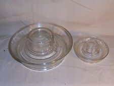 Antique Vintage Large Glass Chicken / Poultry Water Dish Feeder with Small Water