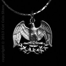 Silver Quarter USA US Patriotic American Eagle Cut Coin Jewelry Store