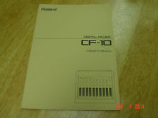 Original Manual for Roland CF-10 Digital Fader  From 1989 LQQK!