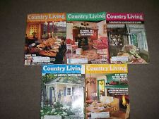 5 Country Living Magazine lot Feb April May Aug Nov 1991 antiques & gardening