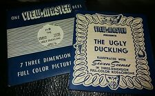 Sawyers Vintage View Master Reel-The Ugly Duckling Raro FT9 + Folleto De Historia