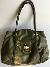 B Makowsky Green Leather Shoulder Bag - Fabulous Style at a Great Price