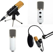 Black 3.5mm USB Microphone Mic Studio Recording with Shock Mount for Anchor Sing