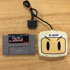 Super Bomberman Super Nintendo SNES System Game & Hudson Super Multitap 2 HC-700