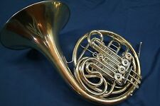 1940s Lorenzo Sansone New York Full Double French Horn Bb/F w/Case, Mouthpiece